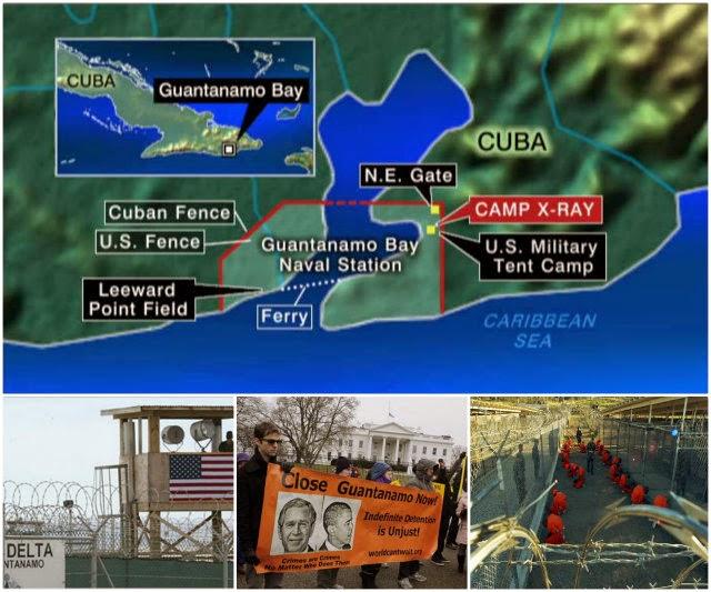Base Naval de Guantánamo. Instalación ubicada de manera ilegal en un área de 117,6 kilómetros cuadrados del territorio nacional de Cuba, ocupada desde 1903 en contra de la voluntad del pueblo cubano.
