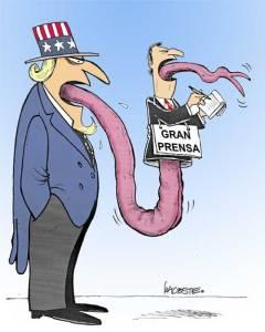 El Imperialismo no escatima esfuerzos en engañar a la opinión publica mundial a través de sus medios masivos de comunicación cuando se refiere a Cuba. (Tomado de elhumordelacoste.blogspot.com)
